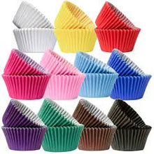 Load image into Gallery viewer, Cupcake /Muffin Cases Premium quality paper cases - Various colours
