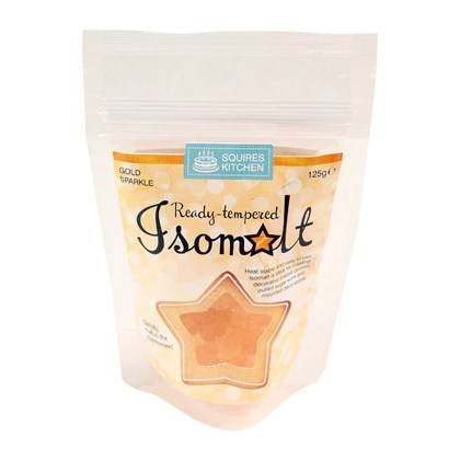 Baking Ingredients - Squires Isolmalt- Gold Sparkle - 125g