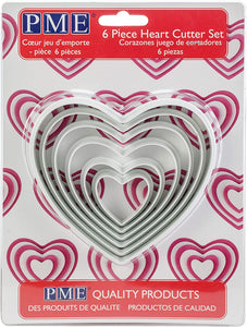 Cutters - Cookie Heart 6 set PMM