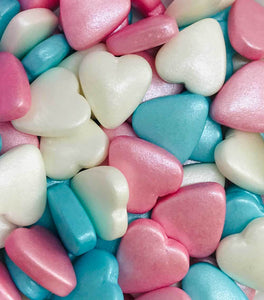 Edible Decorations- Hearts Pastel Tablet Mix - 50g