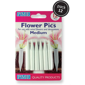 PME Medium Flower picks - 12 pack
