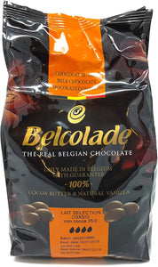 Baking ingredients -Chocolate:  Belcolade Milk couveture