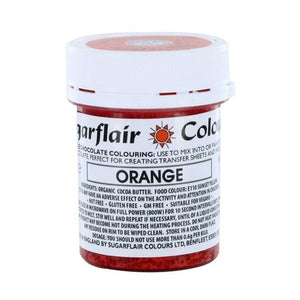 Colouring -Sugarflair Chocolate Colouring paste - Orange 35g