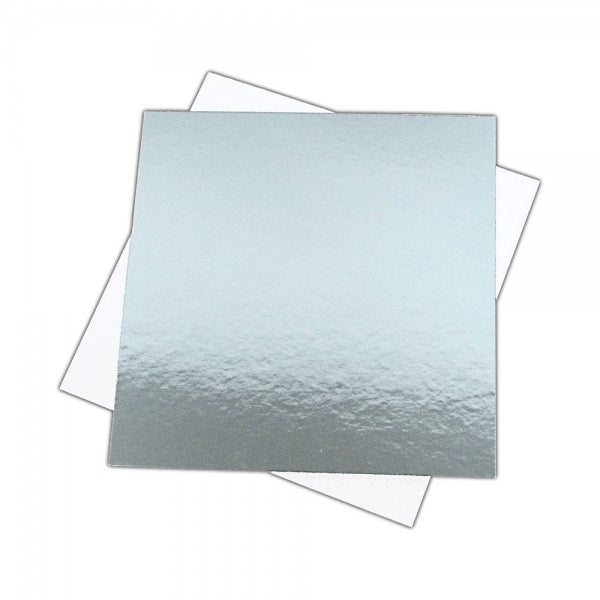 Cake Card: Square cut edge cake card  (various sizes)
