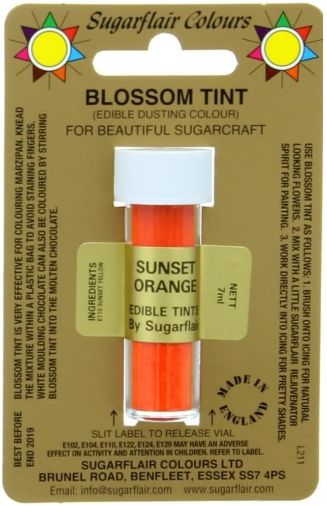 Sugarflair - Blossom Tint -Sunset Orange