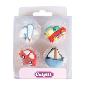 Cupcake Edible Topper - Transport