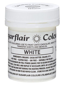 Colouring -Sugarflair Chocolate Colouring paste - White 35g