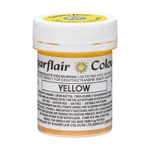 Colouring -Sugarflair Chocolate Colouring paste - Yellow 35g