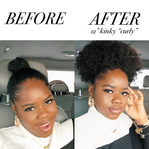 """SHOP 12"""" KINKY """"CURLY"""" PONYTAIL HERE"""