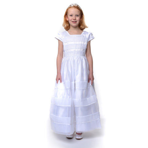 Sarah Louise 9957 ankle length organza pleated dress