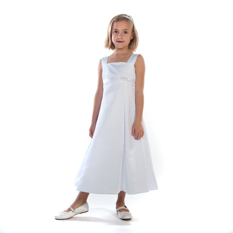 Sadie Communion Dress with Ribbon Waistband