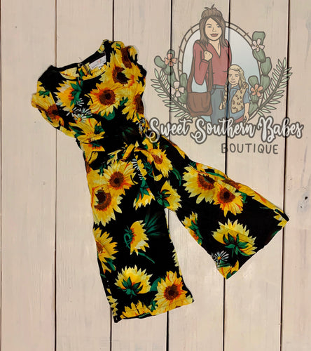 Sunflower Jumpsuit Romper by Bailey's Blossoms