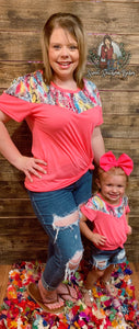 Eyes on Me Neon Pink Top with Vibrant Snake Accents- Womens