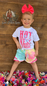 Beach Bound Tie-Dye Shorts with Mini Pom Trim