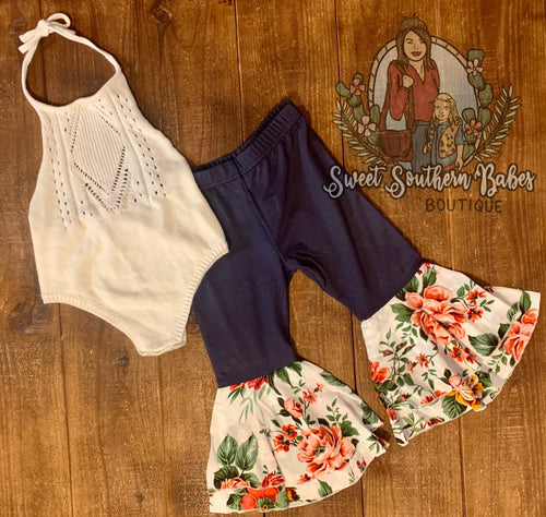 Floral Bell Bottoms by Bailey's Blossoms