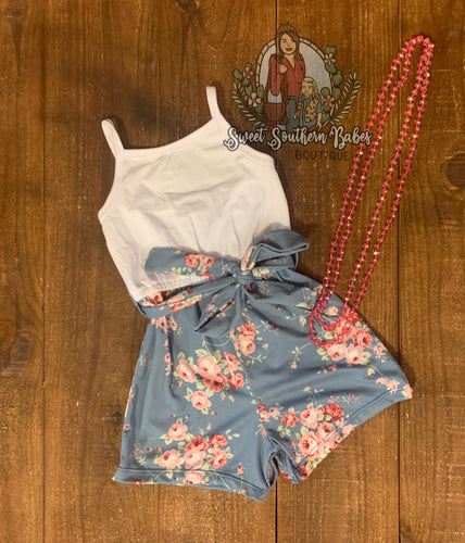 Blue Bell Floral Camisole Romper