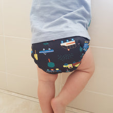 Load image into Gallery viewer, Modern Cloth Nappy - All Truckered Out- Velcro