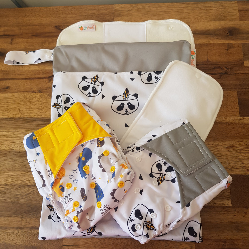 Modern Cloth Nappy Starter/Trial Pack