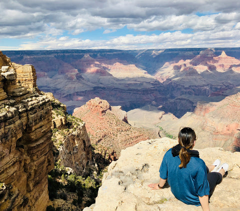 Anne overlooking the Grand Canyon