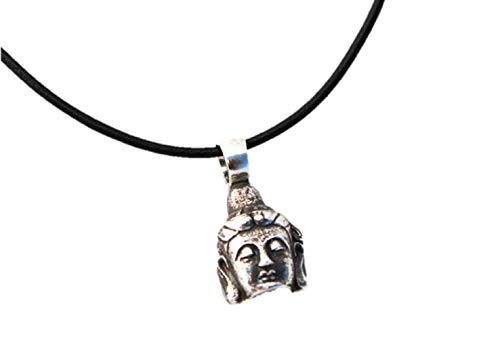 Cabaret Buddha Pendant, shown with leather necklace which is not included.