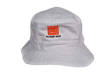 Taliesin West White Bucket Hat, front