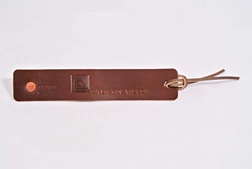 Taliesin West Leather Bookmark