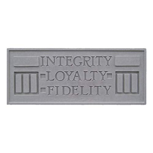 Larking Plaque, Integrity, Loyalty, Fidelity.