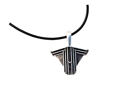 Cabaret Sconce Pendant on leather necklace which is not included.