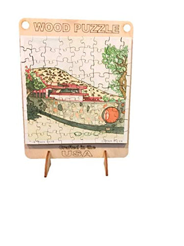 Frank Lloyd Wright Store Taliesin West The Moon Gate Wood Puzzle Carson Bilger Print Wooden Bag Puzzle
