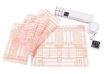 Four Oak Park Silicone Placemats and storage tube.