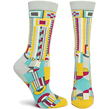 Saguaro Forms 1 Women's Sock, turquoise, side and front.