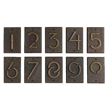 Exhibition House Address Numbers, one through nine.