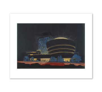 Guggenheim Museum (Night) Print