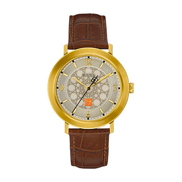 S.C. Johnson Men's Brown Strap Watch
