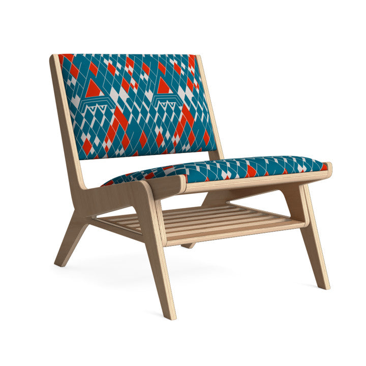 Edgar Lounge Chair in Arctic Cherry.
