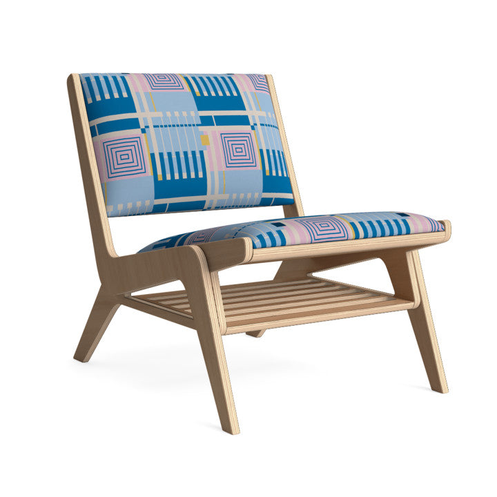 Edgar Lounge Chair in Candied Sky.