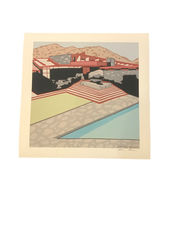 Frank Lloyd Wright Store Taliesin West Carson Bilger Giclee Print on Moab Entrada Rag Bright White 190 Paper Hand Signed by Carson Bilger