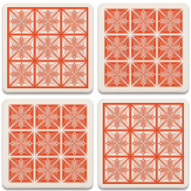 Dana Thomas House Coasters, tops of four in set