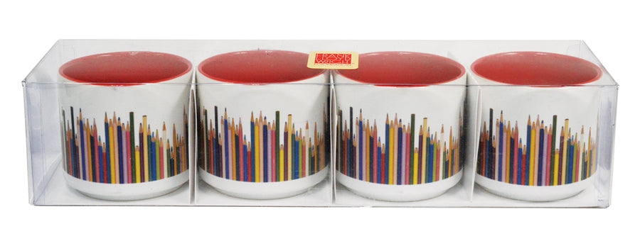 Colored Pencils Espresso Cup Set