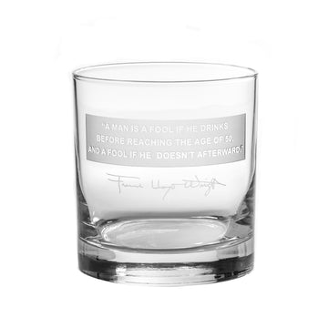 Fool Quote Rocks Glass