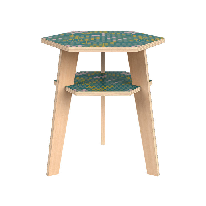 Hanna Side Table in Forest Flower.