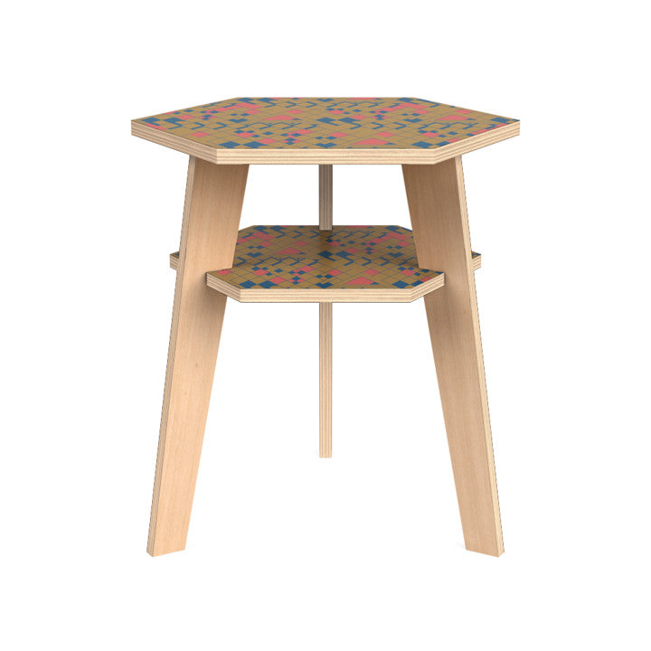 Hanna Side Table in Gumdrop Desert.