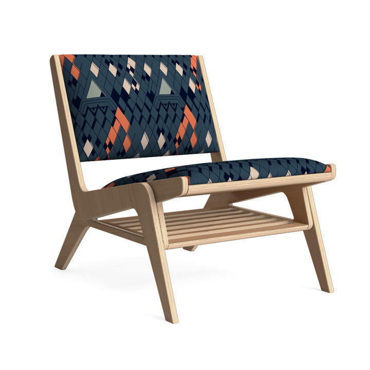 Edgar Lounge Chair in Nautical Night.