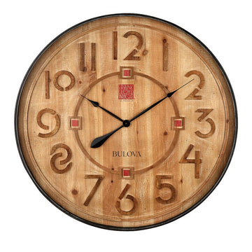 Taliesin Wooden Clock, oversized.