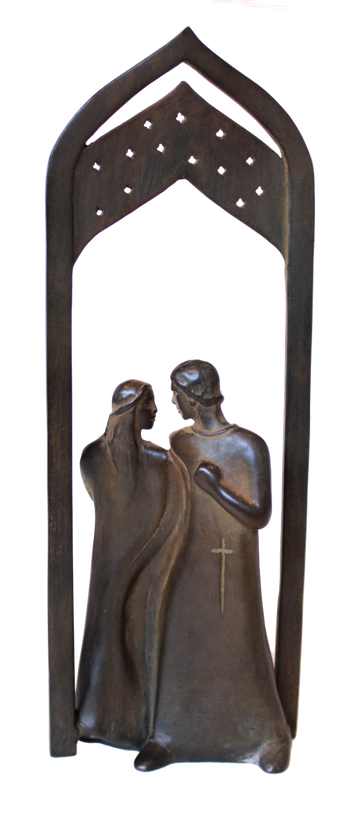 Small Romeo & Juliet with Arch Shelf Sculpture by Heloise Crista.