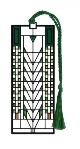 Tree of Life Bookmark with green tassel
