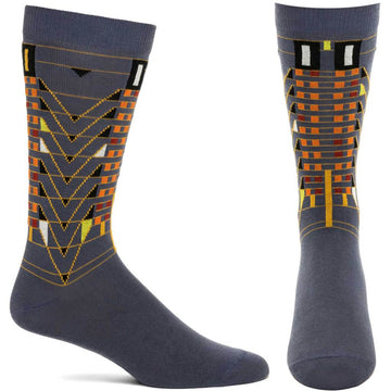 Tree of Life Men's Sock, gray.