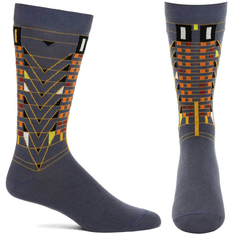 Ozone Mens Frank Lloyd Wright Tree Of Life Sock - Grey