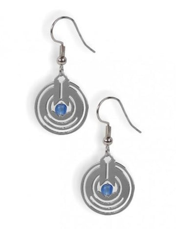 April Showers II Earrings with blue beads