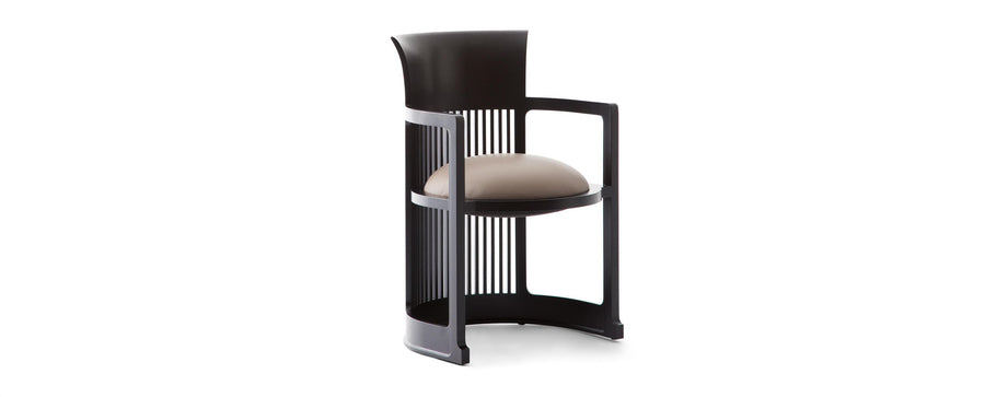 Barrel Chair, black stain